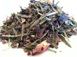 Hibiscus Flower, Wlld Cherry Bark, Rose Hips, Orange Peel, Lemon Grass, Spearmint Leaf, Natural Flavor, Licorice Root